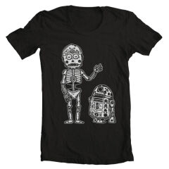Tricou Sugarskull C3po And R2d2