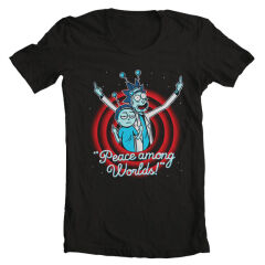 Tricou Rick And Morty Peace Among Worlds