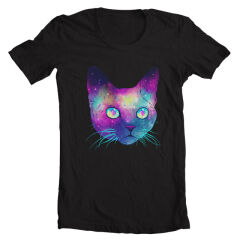 Tricou Galaxy Cat