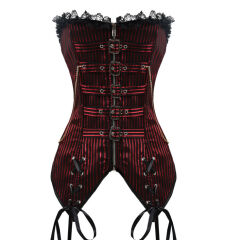 Corset steampunk Red Stripes