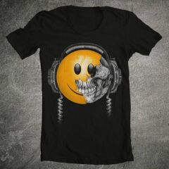 Tricou Smiley Skull