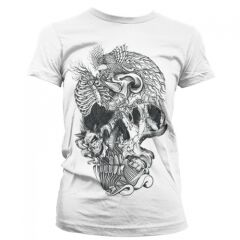 TRICOU FEATHER SKULL FEMEI