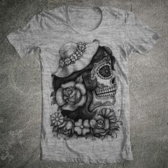 Tricou Tattoo Lady Skull