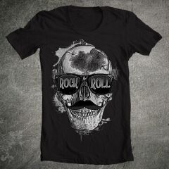 Tricou Rock N'roll Hipster Skull