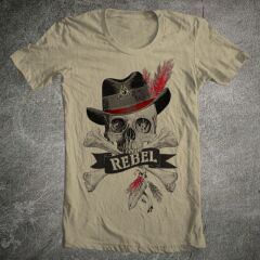 Tricou Barbati Rebel Feather Skull