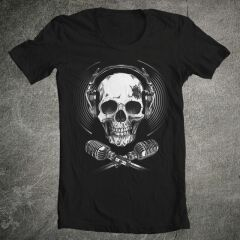 Tricou Music Skeleton