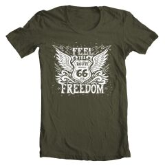 Tricou Barbati Route 66 Freedom