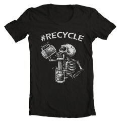 Tricou Recycle Drinking Skeleton