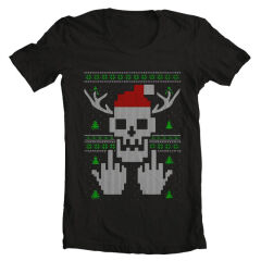 Tricou Christmas Middle Finger