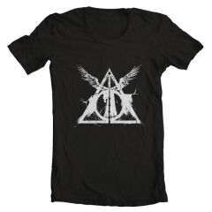 Tricou Harry Potter Deathly Hallows
